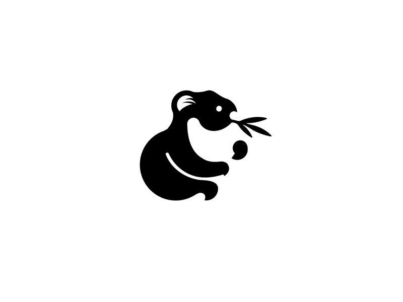 Koala symbol black marks logo graphic illustration identity icon design koala animal