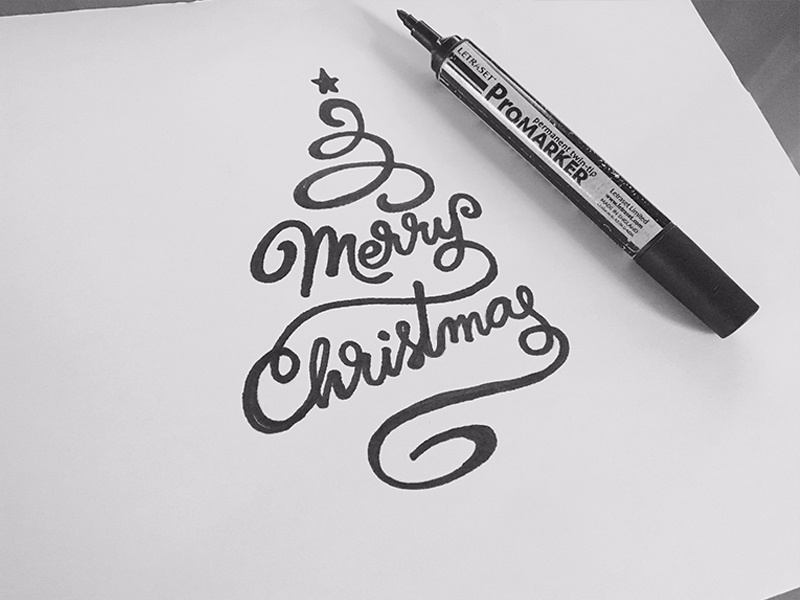 Christmas Calligraphy.Merry Christmas By Matthieumartigny On Dribbble
