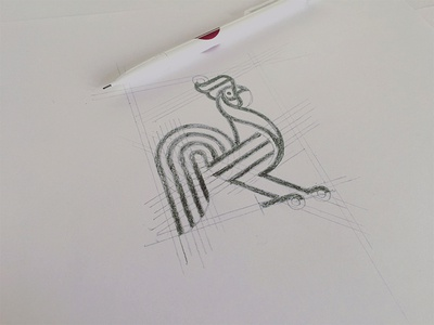 Line Art Rooster : Rooster grid by matthieumartigny dribbble