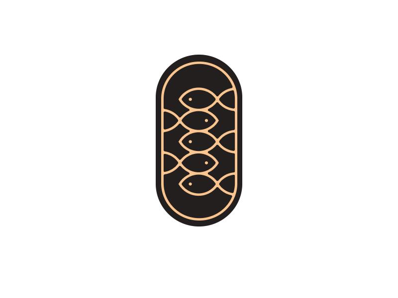 LOGO FISH GOLD monogram sea typography blue pencil marks lettering skecth gold font design fish