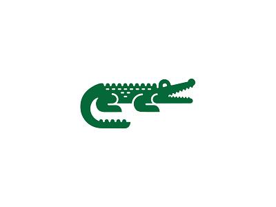 Crocodile / alligator jungle river symbol mark logo crocodile illustration natural design alligator line animal