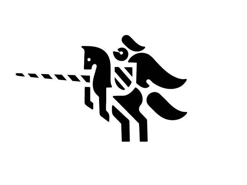 Knight rider castle symbol mark logotype logo knight illustration identity horse design animal