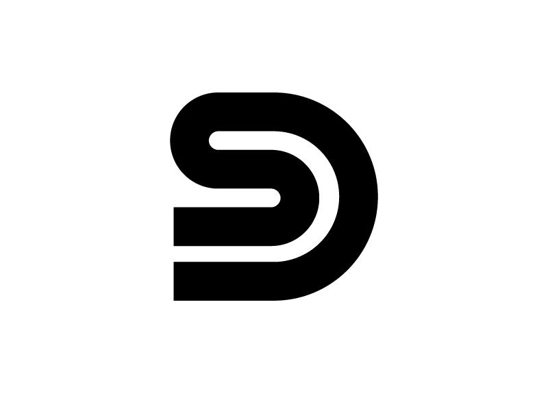 MONOGRAM SD symbol monogram mark logo lettering letter identity icon graphic calligraphy d s