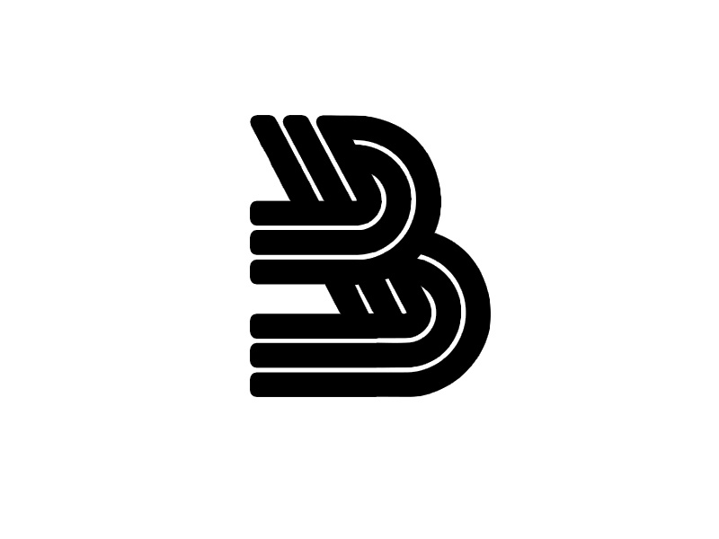 monogram b b symbol monogram marks logo lettering identity icon grid font design branding