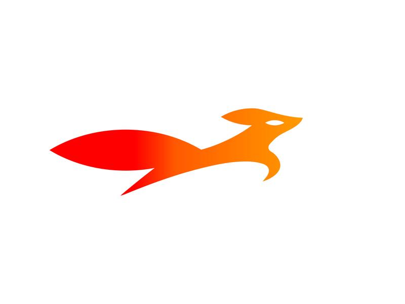 fox grid logotype graphic letter monogram design smart fox orange line black branding mark identity animal icon marks illustration symbol logo