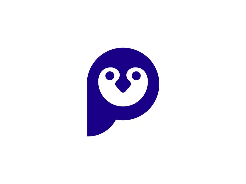 Penguin blue line penguin artic penguins monogram black branding mark animal design identity icon marks illustration symbol logo