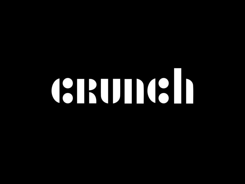 Crunch crunch font calligraphy logotype typography graphic letter lettering monogram line black branding mark animal identity marks illustration symbol logo design