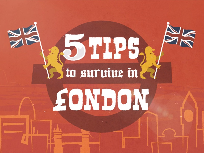 5 Tips To Survive In London motion graphics after effects rig character cartoon animation london
