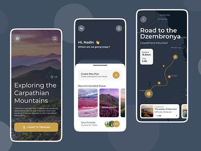 Travel App user interface design uidesign mobile app design design app ux ui