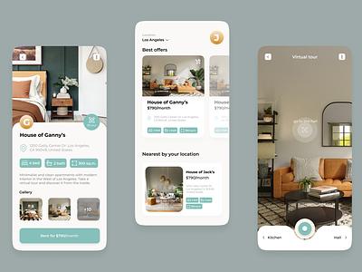 Home Rent App user interface design uidesign mobile app design app design ux ui