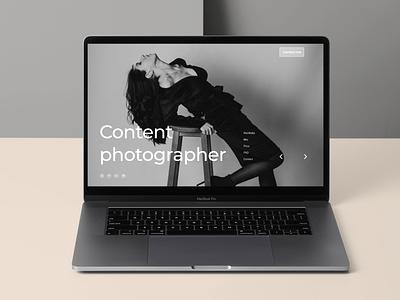 Portfolio - Landing Page photographer portfolio landing page web design user interface design ux ui