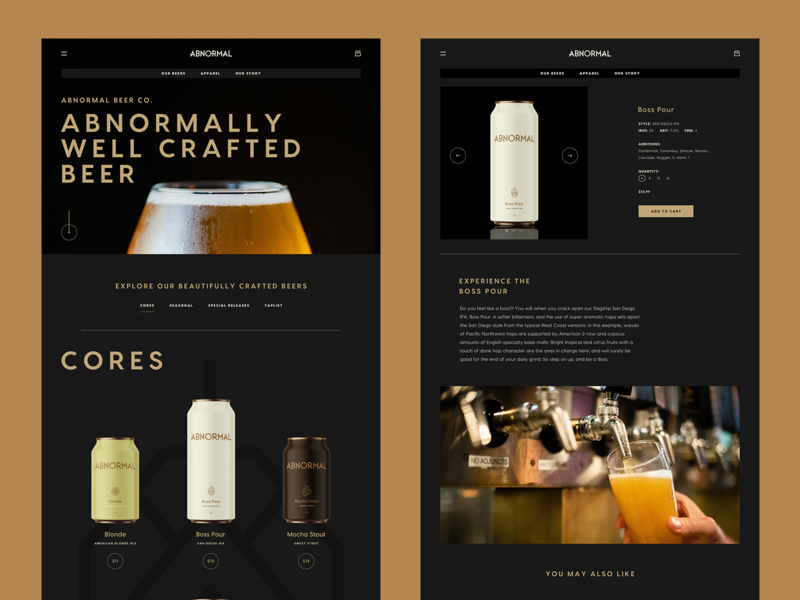 Abnormal Rebranding wine website web ux ui restaurant homepage beer abnormal