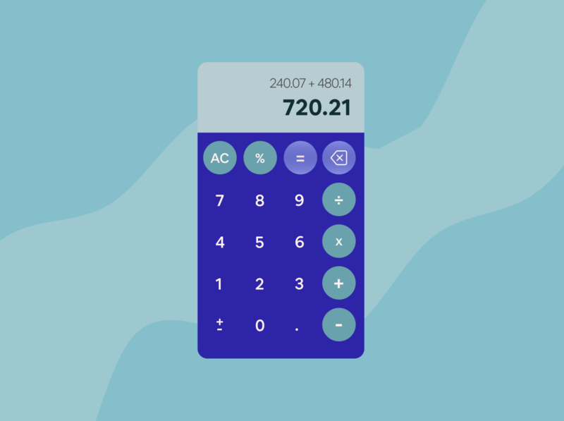 daily ui #004: calculator illustration design dailyui dailyuichallenge calculator daily 100 challenge dailyui 004 app ux ui daily ui daily 100