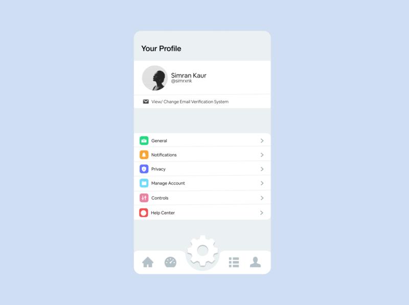 daily ui #007: settings dailyui 007 app design daily 100 challenge dailyui dailyuichallenge ux ui daily ui daily 100 setting