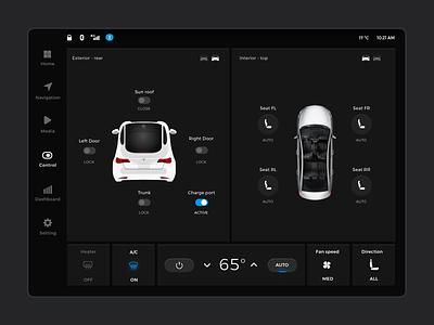 Car Interface controls dashbord automotive car automobile ui