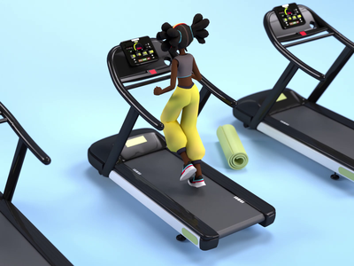 Daily Workout Routine fitness colors design animation motion graphics illustration 3d cinema4d gym