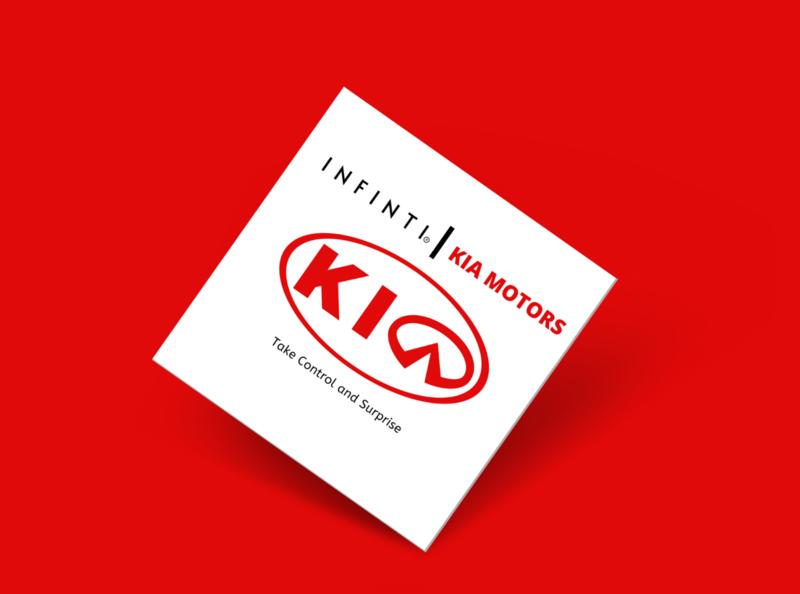 KIA and INFINITY Logo Mix logo trend logo concepts graphic logo concept mixing creative logo collection branding design brand design logotype logo design icon graphicdesign illustration logo branding minimal design