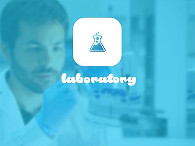 Laboratory flat ui kit logo hospital medicine lab