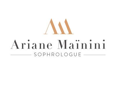 Logo Ariane Mainini typography design logo