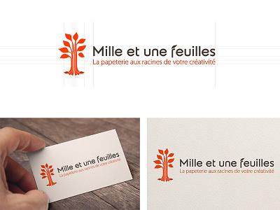 "Logotype design for ""Mille Et Une Feuilles"" logotype design"