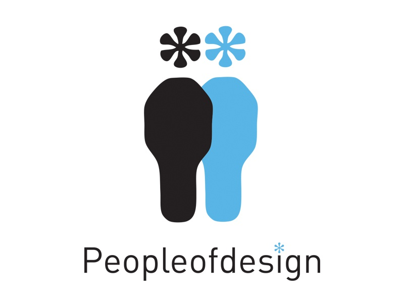 Peopleofdesign logo identity logotype