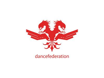 Dancefederation dance logo identity logotype