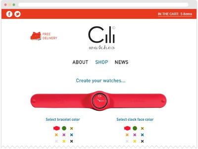 Cili Watches shop ui web-site watches