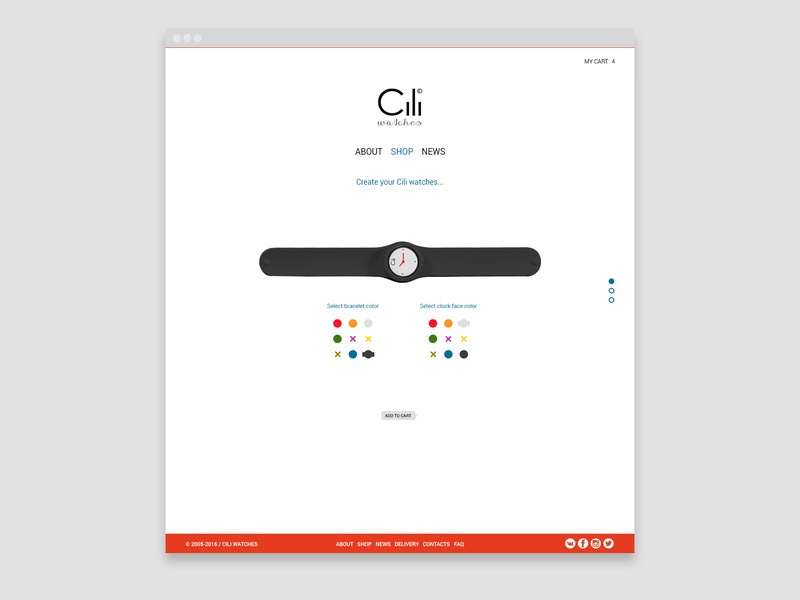 Cili Watches redesign ui store design watches site web design webdesign