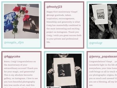 Vimpt Testimonial Section photography adaptive responsive testimonials website