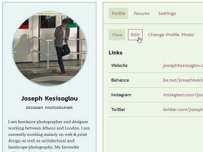 Vimpt Member Profile user account cards responsive photography website ui user profile