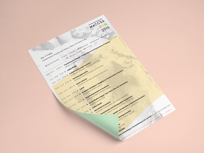 Conference Print Programme paper logo identity graphic design branding glitch brochure event programme print