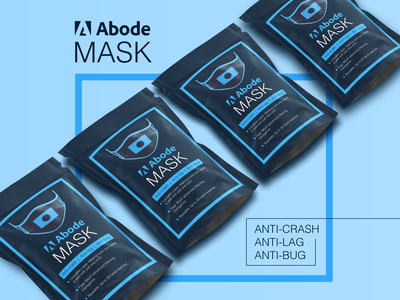 Abode Mask branding graphicdesign mockup covid mask adobe parody funny illustration