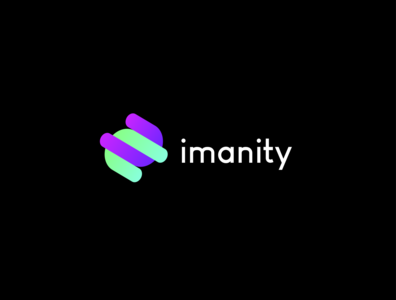 imanity logo concept typography design logotype logos logo design illustration flat branding icon logo