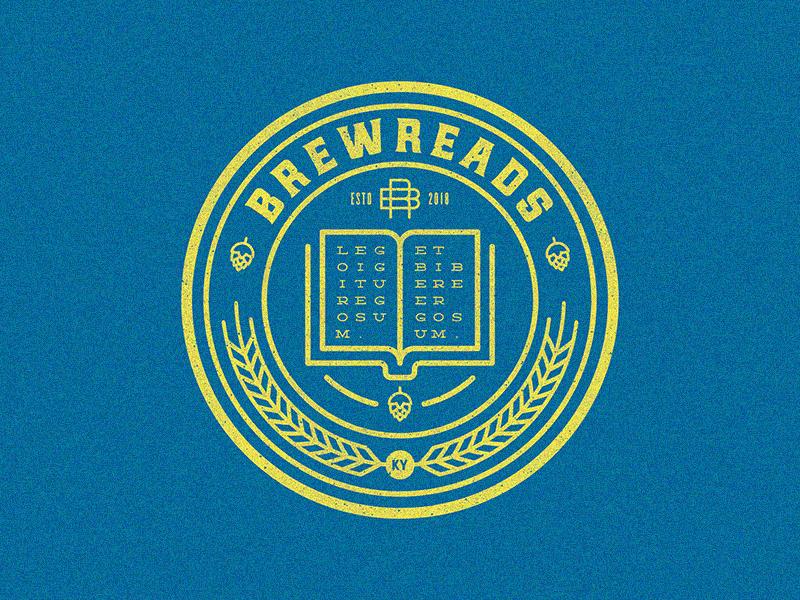 Brewreads Logo branding flat vector illustration logo design