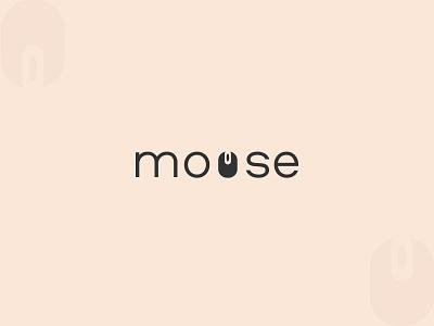 Mouse wordmark logo illustration icon vector logo branding typography woedmark logo mouse wordmark logo mouse logo