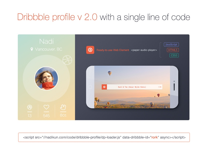 Dribbble Profile for your website by Nadi on Dribbble