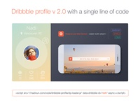 Dribbble Profile for your website