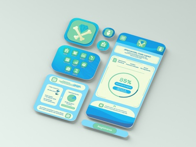 Bone Tracker App & Branding project (continued) mobile app real life mock up photoshop branding