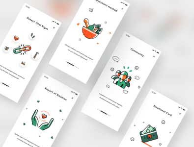 Boarding Pages icon ui illustration