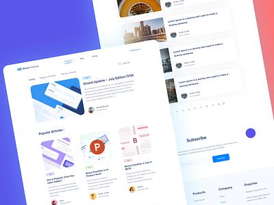 Blog Page - BrandOverflow colorful content design illustration art clean ui ui design uiux blog design blog