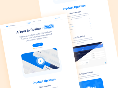 2020 Year Review Page - BrandOverflow brandoverflow creative cleaning ui design ui  ux page year in review review year 2020
