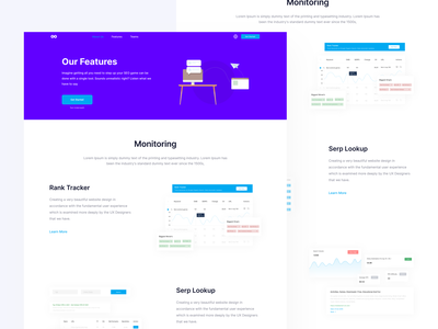 Features Page - BrandOverflow mockups illustration header hero minimal landing page ui  ux uidesign ui design clean