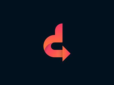 d arrow unique logo creative logo creative brand identity brand design branding business logo best logo app icon logo design modern logo minimalist logo logo minimal logo flat logo d letter logo d