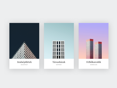 Card design typography shadow card illustration ui