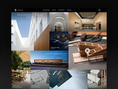 Architecture and Design Magazine logo elegant design ui
