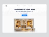 3D Floor Plan Service home page homepage interior design architecture floorplan ecommerce branding design ui