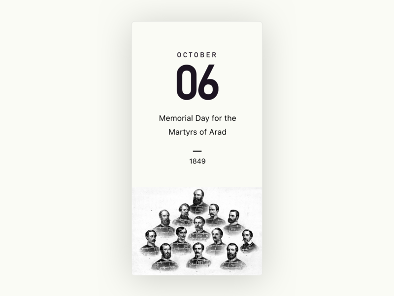 Understand History card design history minimal clean typography card design ui