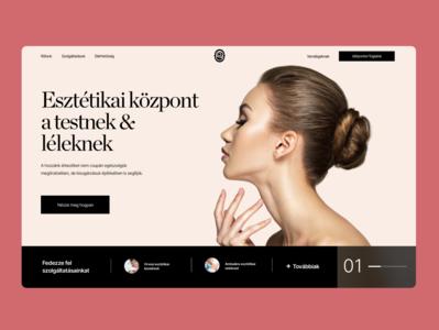 Aesthetic Centre Website Redesign clinic women beauty minimal typography elegant ecommerce design ui