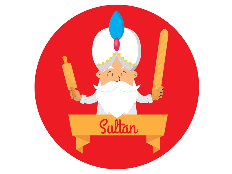Sultan Logo #2D Design vector illustration logo design