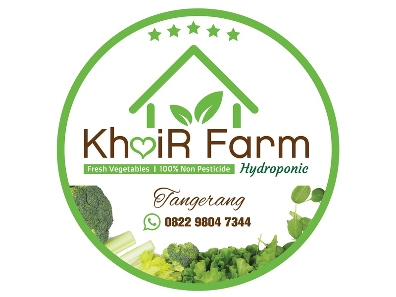 KhoiR Farm Hydroponic Logo #2D Design vector illustration design logo
